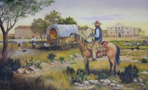 1852 Cowboy Meets Cook at Alamo Village