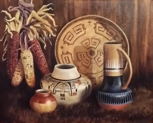 Indian Pottery and Corn